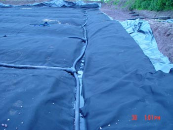 Protection Geotextile and Drainage Pipe Network